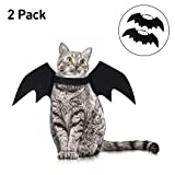 kortes 2 Pack Halloween Pet Bat Wings Cat Dog Bat Vampire Costume Halloween Accessory for Puppy Dog and Cat