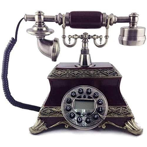 JDJFDKSFH Home Retro Landline, Teléfono con Cable, Identificador de Llamadas Número de búsqueda Teléfono Bienvenido