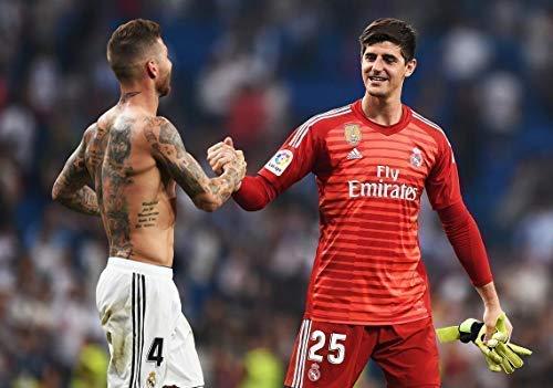 Desconocido Thibaut Courtois y Sergio Ramos Real Madrid la Liga España Fútbol Póster 10958 (A3-A4-A5) - A3: Amazon.es: Hogar