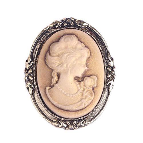 Yazilind Lange Vintage Brosche Pins Legierung Schmuck Marke Kleidung Zubehör Kristall Strass Broches für Frauen Hochzeit Braut (Klassisch)