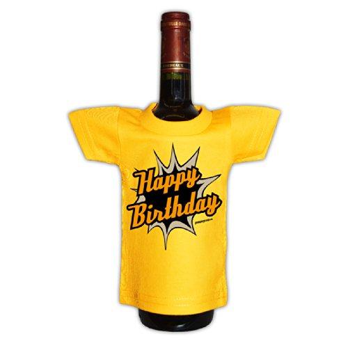 Goodman Design ® Flaschenüberzieher Geschenksidee Happy Birthday Mitbringsel Geburtstagsgeschenk Funartikel zum Geburtstag