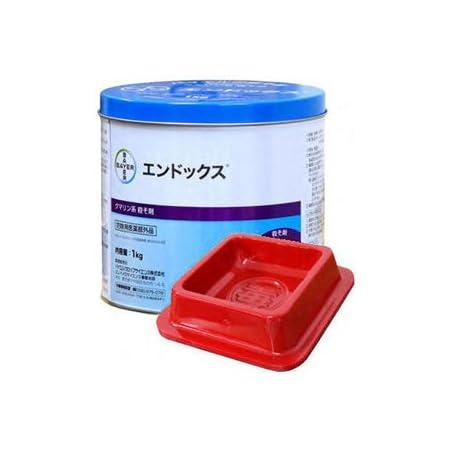 毒餌皿20枚入付 業務用殺鼠剤 エンドックス 1kg缶 防除用医薬部外品 +毒餌皿20枚入 セット