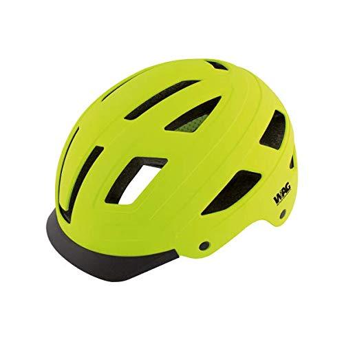 WAG BIKE Casco Per Bici CITY Hard Shell Giallo Fluo M (55-58 cm)