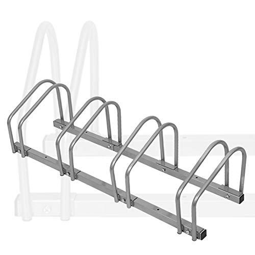 Aufun Fahrradständer Aufstellständer Fahrrad Ständer Boden Wand Montage Metall Platzsparend (Für 4 Fahrräder)