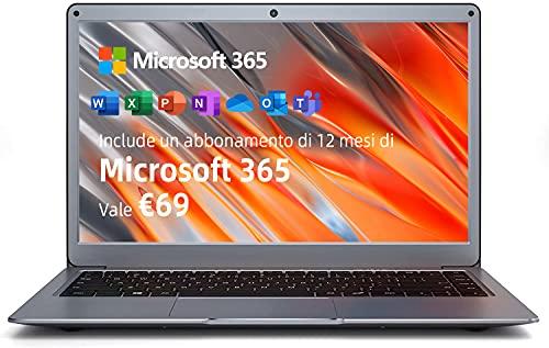 notebook jumper Jumper Notebook 13.3 Pollice FHD SCHERMO Windows 10 Pc Portatile Microsoft 365 4GB RAM 64GB eMMC Wi-Fi Dual Band