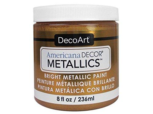 DecoArt Americana–Decoración Jarra de metálico de Pintura, acrílico, Oro Viejo, 7x 7x 8cm