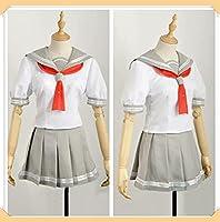 【心缘cosplay】高海千歌 学院女子制服 半袖セーラー服 夏制服 オーダーメイド可能