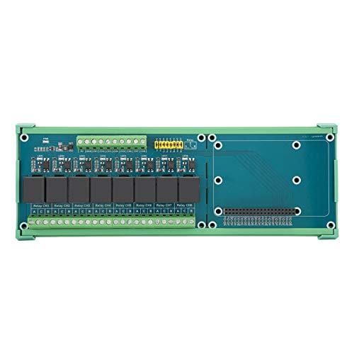 Bindpo Relais-Erweiterungskarte für Raspberry Pi 4B/3B +, 8-Kanal-5-V-Erweiterungskarten-SPS-Controller, 40-polige GPIO-Schnittstelle für Raspberry Pi-Motherboards/Jetson
