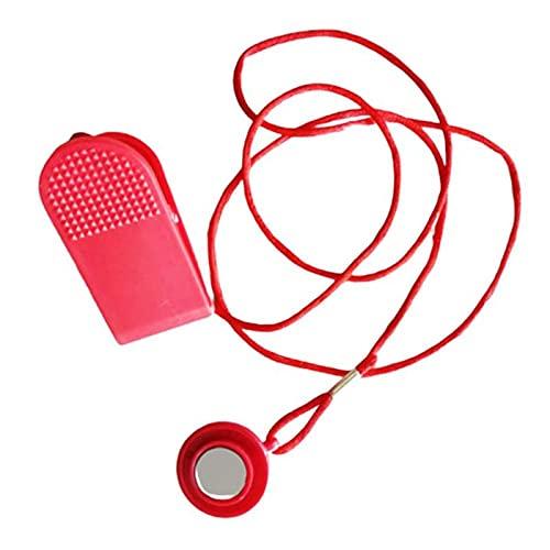 ZPFQFC Magnetischer Sicherheitsschalter, Tretmill-Sicherheitsschlüssel, Universal-Laufband-Magnet-Sicherheitsschloss Runde Schalter-Fitness für die meisten Laufband