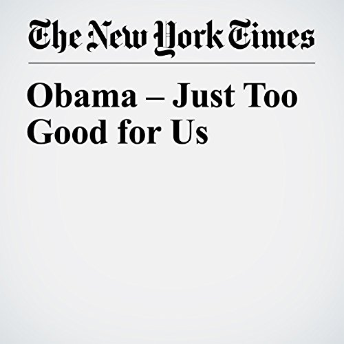 Obama – Just Too Good for Us copertina