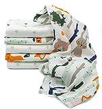 Clevere Kids Mulltücher Sterne grau | 6er Pack | Spucktücher Mullwindeln | 70x80 | doppelt gewebt |OEKO-TEX (Waldtiere-Greystar)