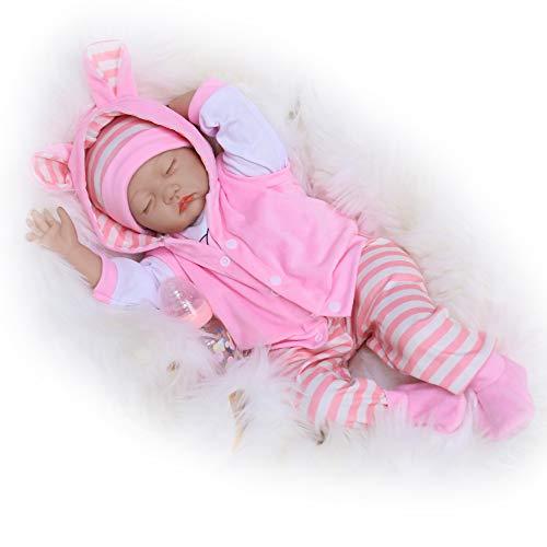 Kaydora Sleeping Reborn Baby Dolls, 22 Inch Realistic Newborn Baby Doll Girl, Lifelike Baby Doll, Silicone Reborn Dolls That Look Real, Handmade Reborn Baby Toy for Girls Age 3+
