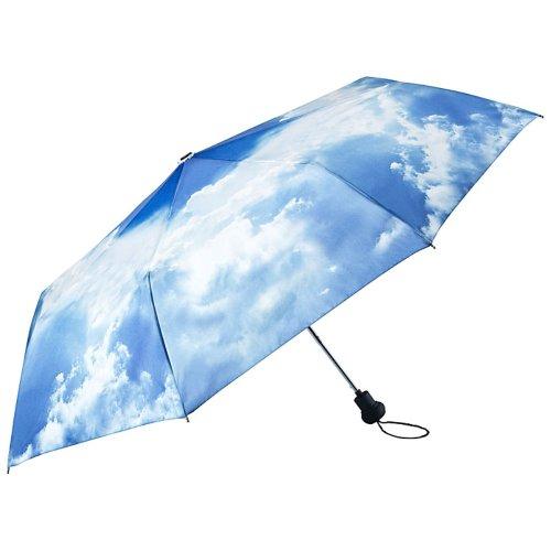 VON LILIENFELD Regenschirm Taschenschirm Stabil Leicht Auf-Automatik Damen Herren Motiv Wolken Hamburger Himmel
