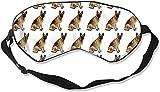 VTYOSQ Mujeres Hombres Moda Bloqueo de la luz Cubierta del ojo del sueño, suave y cómoda con los ojos vendados Galaxy Cats Heads Cubierta del ojo para viajes/Meditación/Trabajo por turnos