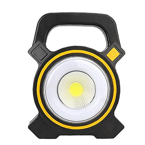 NIDONE Camping Linterna Luces solares COB LED Lámpara Noche Recargable Portátil para Pesca de Senderismo de Emergencia