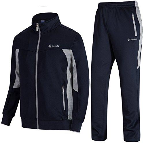 TBMPOY – Moletom masculino esportivo atlético com zíper, 01 Navy+grey, X-Large