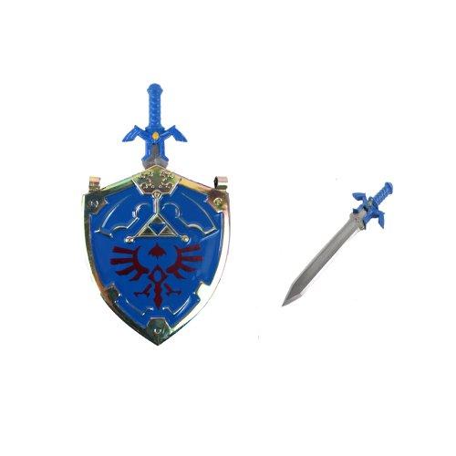 Legend of Zelda Hylian Shield Necklace Master Sword Letter Opener Chain