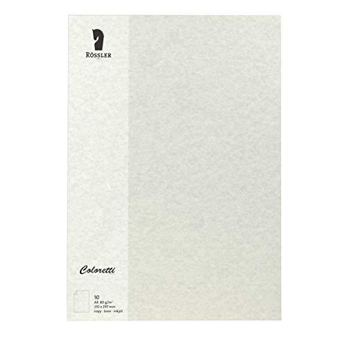 Rössler 220701970 Coloretti Briefpapier, 80g/m², DIN A4, 10 Blatt, wolkengrau