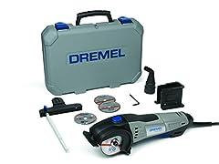 Dremel DSM20 batterie scie compacte 710W scie à main (avec 6 accessoires et 1 moulage d'aspirateur, pour la coupe propre d'une variété de matériaux)