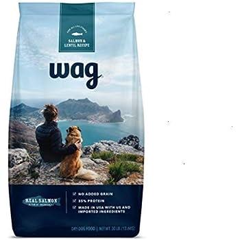 Amazon Brand - Wag Dry Dog Food, 35% Protein, No Added Grains (Beef, Salmon, Turkey, Lamb)
