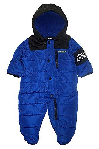 Diesel Baby-Jungen Pram Daunenalternative, Mantel, Logo blau/schwarz, 6-9 Monate