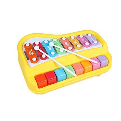 Toyvian Pädagogische Musikinstrumente Spielzeug Holz Xylophon Klopfen Glockenspiel für Babys Kleinkinder Kinder Musical Holz Klavier Spielzeug (Zufällige Farbe)