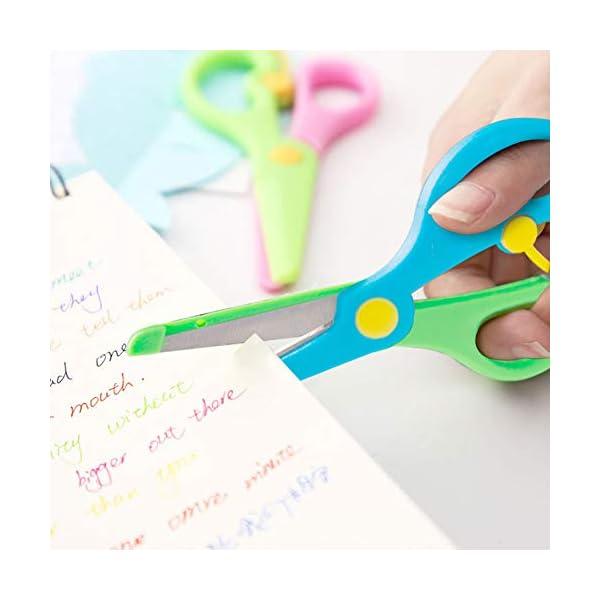 Dotters – Juego de 3 tijeras de seguridad de 2 colores para niños, estudiantes, profesores, manualidades