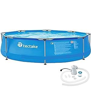 TecTake 800580 Piscina Desmontable, Swimming Pool, Tejido de PVC, Construcción Robusta, Fácil Montaje, Compacta – Disponible en Varios Modelos