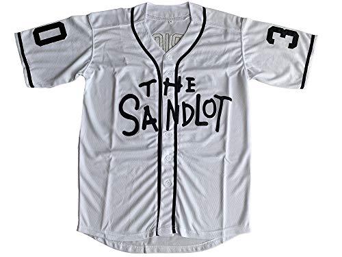 Benny 'The Jet' Rodriguez 30 The Sandlot Legends #23 Bel Air Short Sleeve 3D Print Fashion Baseball Jersey (30 White, XX-Large)