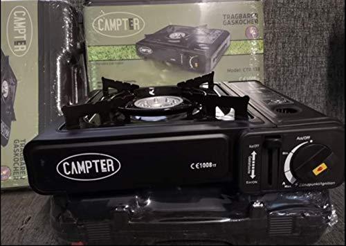 Campter Hornillo de gas portátil para camping, hornillo de gas para camping