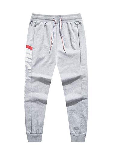 LAUSONS Junge Streetwear Sporthose Kinder Jogginghose Sweathosen, Grau, Größe 160/12-13 Jahre
