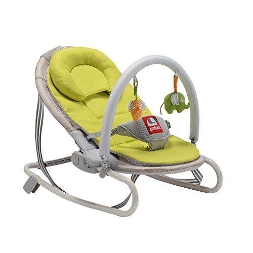 LICCC Instalación Mecedora de bebé Cuna Comfort reclinable Plegable Libre de Invierno y Verano Mecedora reclinable (Color : Green)