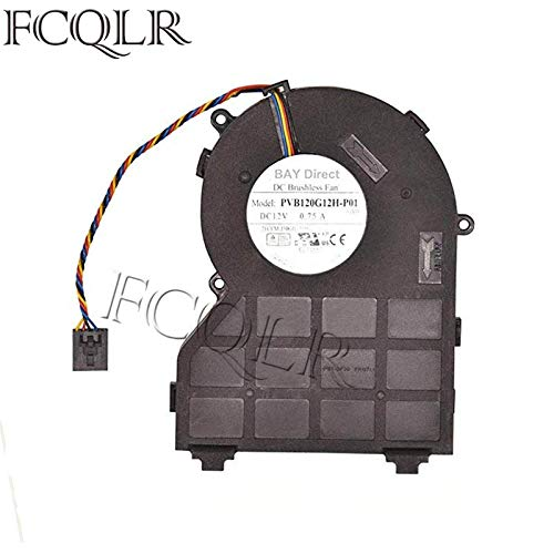 FCQLR Foxconn PVB120G12H-P01 J50GH-A00 J50GH 0J50GH 12V 0.75 4Wire Compatible for DELL OptiPlex 790 390 990 SFF CPU Fan Cooling Fan
