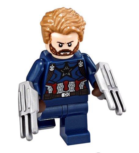 LEGO Super Heroes CAPTAIN AMERICA Minifigure - Split da 76101 (Bagged)