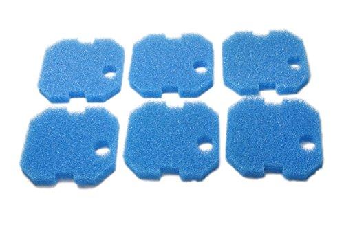 Sin Marca Estera de filtro Esponja de filtrado gruesa azul de reemplazo para Eheim Professional 2222/2324 y Experience 150/250/250T (6 piezas)