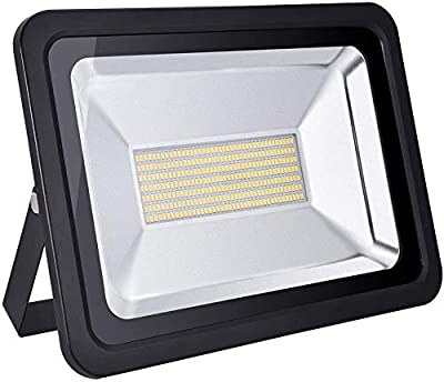 Viugreum 150W LED Flood Light, 12000LM Warm White (3000K), 750W Equivalent, IP65 Waterproof Super Bright Security Outdoor Floodlights for Garage, Garden, Lawn and Yard