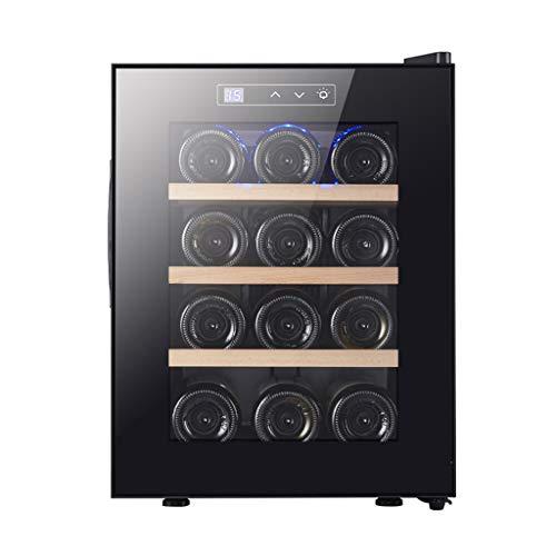 Vinoteca 12 Botellas- Refrigerador De Refrigerador De Vino Tinto Blanco Refrigerador De Vino De Encimera - Led, Display Digital, Panel De Control Táctil