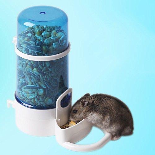 Automatische Futterspender für Hamster,Kleine Haustier Futterautomat Hängende,Schüssel für Hamster Vogel Kleintiere Papageien mit Halter