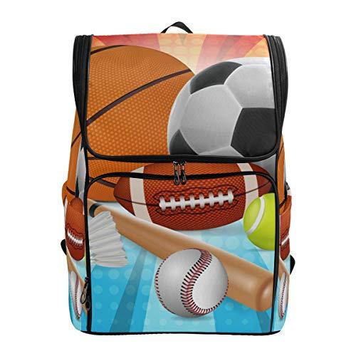 Schulranzen Basketball Fußball Tennis Rugby Baseball Studenten Laptop Buch Tasche Rucksack für Teenager Jungen und Mädchen
