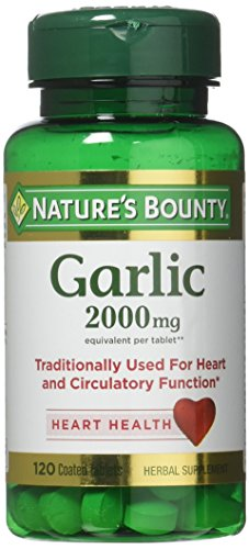 Nature's Bounty Garlic, 2000mg, 120 Coated Tablets (Pack of 2)