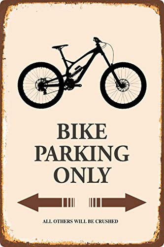 Metalen bord 20x30cm Bike Parking Only Mountain Bike bord
