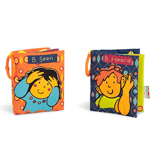 B. toys by Battat Two Soft Baby Books – Fabric Cloth Books for Babies