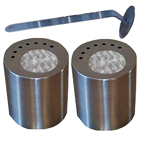 Cheminées Allemande 2Cajas de Combustible de Acero Inoxidable (0,5L)/approprié de bajo Consumo de energía de los Paneles/cerámica Lana/1extintor de Llamas
