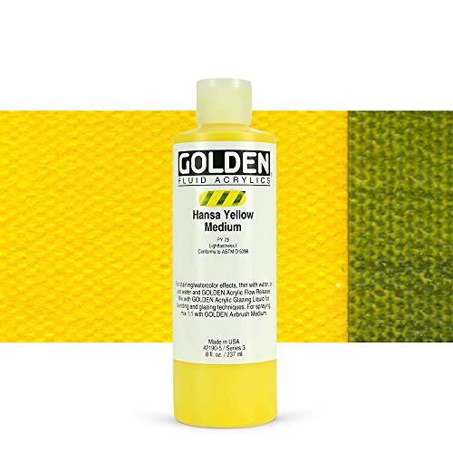 Golden Acrylic : 236ml (8oz) bottle FLUID HANSA YELLOW MEDIUM