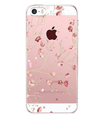Caler iPhone SE Hülle iPhone 5 5S schutzhülle handyhüllen Weiche Flexible (Zweig)