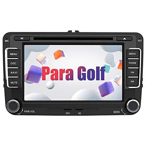 AWESAFE Radio Coche 7 Pulgadas con Pantalla Táctil 2 DIN para VW Golf, Autoradio con Bluetooth/GPS/FM/RDS/CD DVD/USB/SD, Apoyo Mandos Volante, Mirrorlink y Aparcamiento