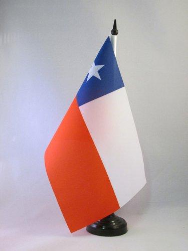 AZ FLAG TISCHFLAGGE Chile 21x14cm - CHILENISCHE TISCHFAHNE 14 x 21 cm - flaggen