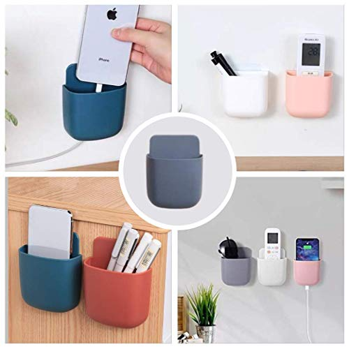 E Group Wall Mounted Storage Case for Remote, Mobile Holder/Multi Purpose Stand/Charging Stand/Drilling Free Stand/Remote & Pen Holder (4 pic Set)