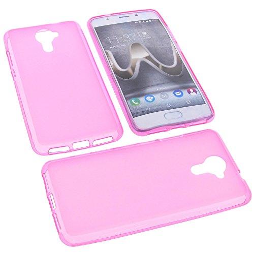 Tasche für Wiko U Feel Prime Gummi TPU Schutz Handytasche pink