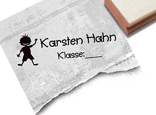 Stempel - Individueller Schulstempel Männecken - Kinderstempel Personalisiert mit Klasse Geschenk für Kinder Einschulung Geburtstag - zAcheR-fineT
